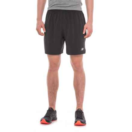 "New Balance Impact Track Shorts - 7"", Built-in Brief (For Men) in Black - Closeouts"
