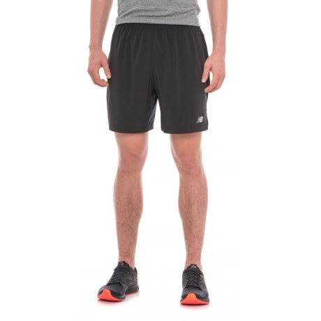 "New Balance Impact Track Shorts - 7"", Built-in Brief (For Men) in Black"