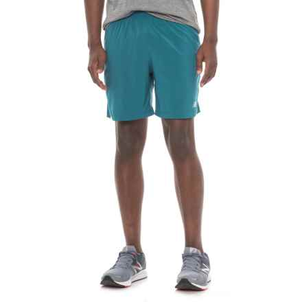 "New Balance Impact Track Shorts - 7"", Built-in Brief (For Men) in Blue - Closeouts"