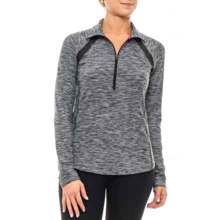 New Balance In Transit Jacket - Zip Neck (For Women) in Black/White - Closeouts