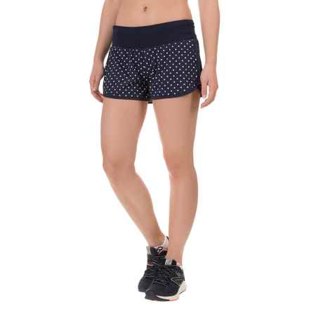 "New Balance J Crew Impact 3"" Shorts - Built-In Brief (For Women) in Navy Dot - Closeouts"