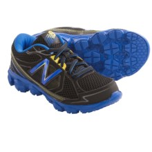 New Balance KJ750 Running Shoes (For Kids and Youth) in Black/Blue - Closeouts
