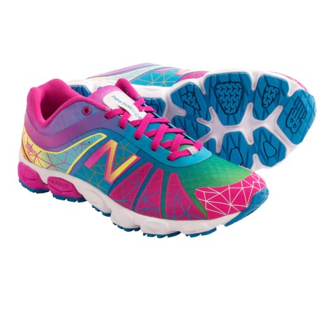 New Balance KJ890 Running Shoes (For Big Boys and Girls) in Rainbow Print