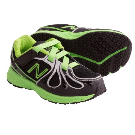 New Balance KV890 Running Shoes (For Infants and Toddlers) in Black/Neon Green