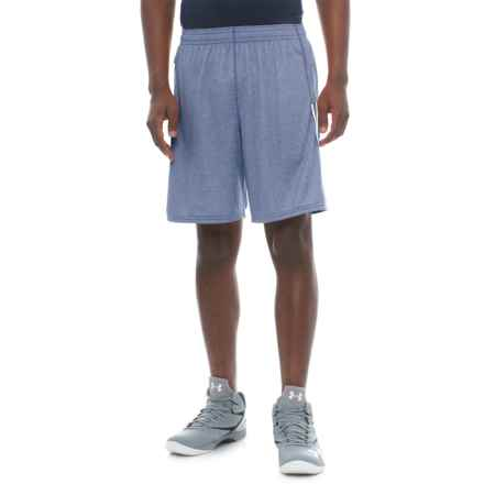 "New Balance Lax Braid Shorts - 10"" (For Men) in Atlantic Heather - Closeouts"