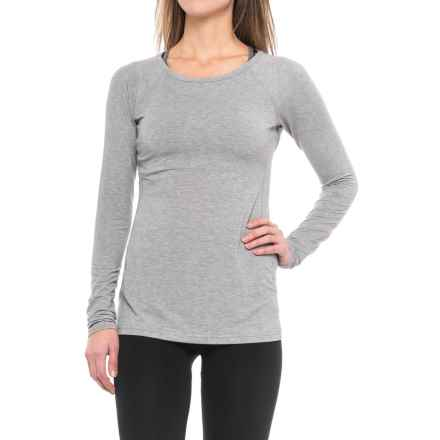 New Balance Layer Shirt - Long Sleeve (For Women) in Athletic Grey - Closeouts