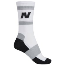 New Balance Lifestyle Varsity Socks - Colored Soles, Crew (For Women) in Black/White - Closeouts
