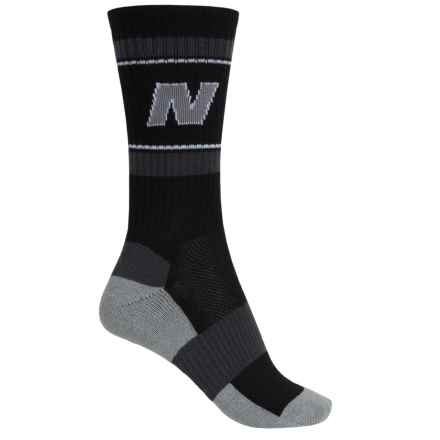 New Balance Lifestyle Varsity Socks - Colored Soles, Crew (For Women) in Black - Closeouts