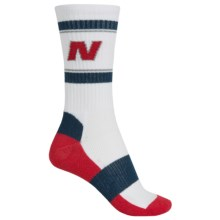 New Balance Lifestyle Varsity Socks - Colored Soles, Crew (For Women) in White - Closeouts