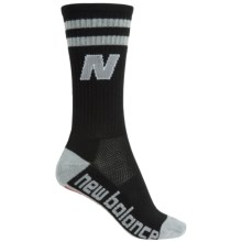 New Balance Lifestyle Varsity Socks - Crew (For Women) in Black - Closeouts