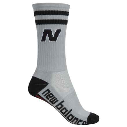 New Balance Lifestyle Varsity Socks - Crew (For Women) in Gray - Closeouts