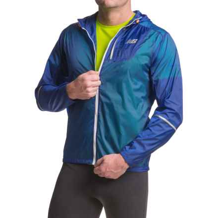 New Balance Lite Packable Jacket (For Men) in Marlin Blue - Closeouts