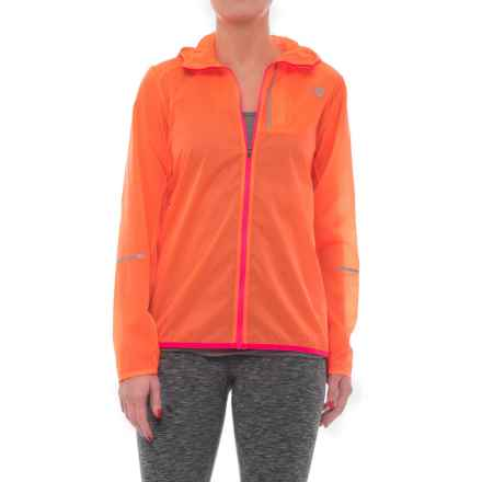 New Balance Lite Packable Jacket (For Women) in Vivid Tangerine - Closeouts