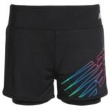 New Balance Logo Bike Shorts - Built-In Liner (For Big Girls)