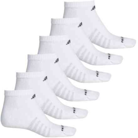 New Balance Low-Cut Core Cotton Socks - 6-Pack, Below the Ankle (For Men) in White - 2nds