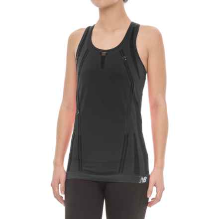 New Balance M4M Seamless Breath Tank Top - Racerback (For Women) in Black - Closeouts