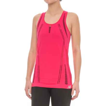 New Balance M4M Seamless Breath Tank Top - Racerback (For Women) in Pomegran - Closeouts