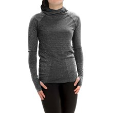 New Balance M4M Seamless Hoodie (For Women) in Black Heather - Closeouts