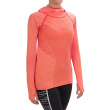 New Balance M4M Seamless Hoodie (For Women) in Dragonfly Heather - Closeouts