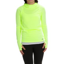 New Balance M4M Seamless Hoodie (For Women) in Hi-Lite - Closeouts