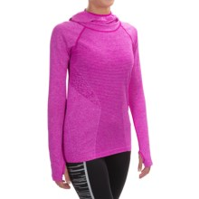 New Balance M4M Seamless Hoodie (For Women) in Pink Zing Heather - Closeouts