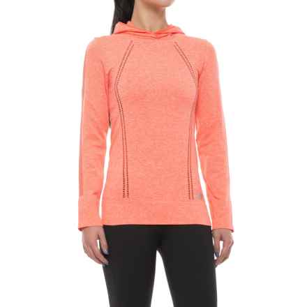 New Balance M4M Seamless Hoodie (For Women) in Sunrise Heather - Closeouts