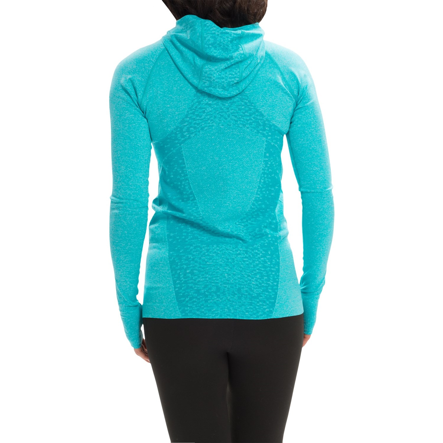 new balance m4m seamless hoodie for women save 63. Black Bedroom Furniture Sets. Home Design Ideas