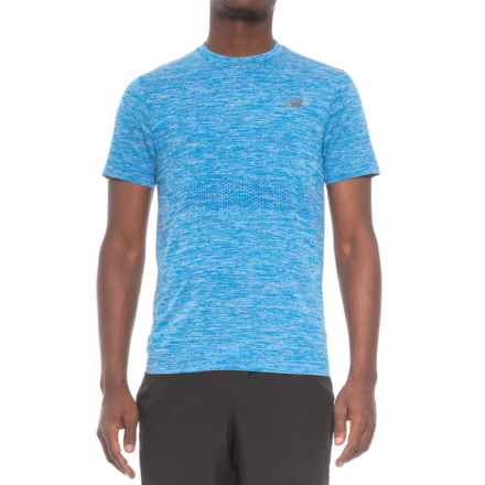 New Balance M4M Seamless Shirt - Short Sleeve (For Men) in Bolt - Closeouts