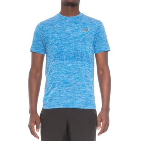 New Balance M4M Seamless Shirt - Short Sleeve (For Men) in Bolt