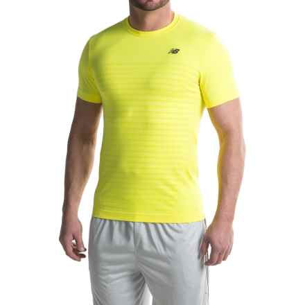New Balance M4M Seamless Shirt - Short Sleeve (For Men) in Firefly Heather - Closeouts