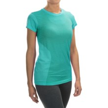 New Balance M4M Seamless Shirt - Short Sleeve (For Women) in Galapagos Heather - Closeouts