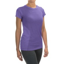 New Balance M4M Seamless Shirt - Short Sleeve (For Women) in Titan Heather - Closeouts