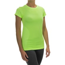 New Balance M4M Seamless Shirt - Short Sleeve (For Women) in Toxic Heather - Closeouts