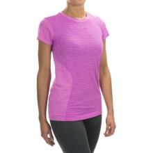 New Balance M4M Seamless Shirt - Short Sleeve (For Women) in Urchin Heather - Closeouts