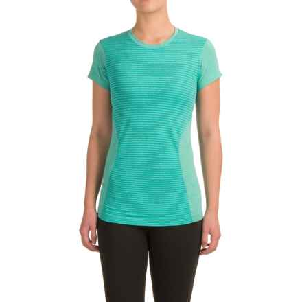 New Balance M4M Seamless T-Shirt - Short Sleeve (For Women) in Galapagos Heather - Closeouts