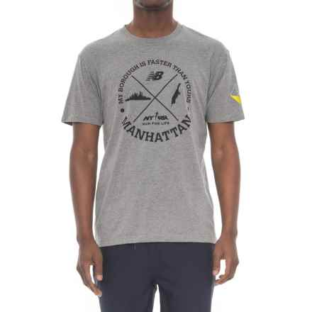 New Balance Manhattan Icons T-shirt - Short Sleeve (For Men) in Athletic Grey - Closeouts