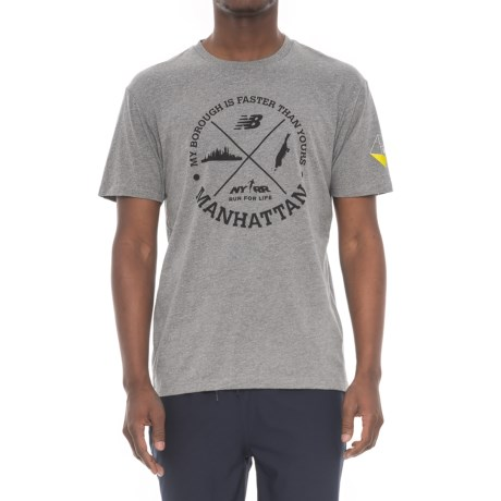 New Balance Manhattan Icons T-shirt - Short Sleeve (For Men) in Athletic Grey