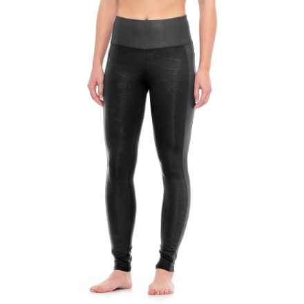 New Balance Matte-Shine Leggings - High Waist (For Women) in Black - Closeouts