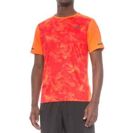 New Balance Max Intensity T-Shirt - Short Sleeve (For Men) in Aop Alpha Orange Print - Closeouts