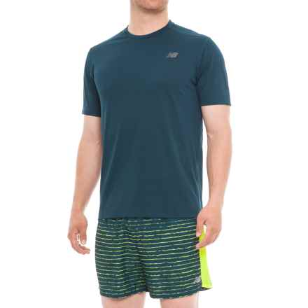 New Balance Max Intensity T-Shirt -Short Sleeve (For Men) in North Sea - Closeouts