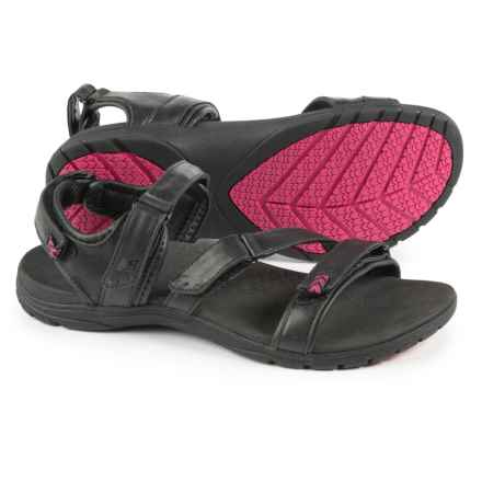 New Balance Maya Sport Sandals - Leather (For Women) in Black/Pink - Closeouts
