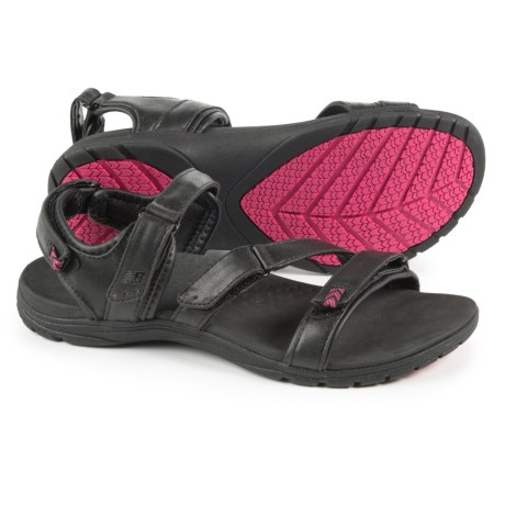 New Balance Maya Sport Sandals - Leather (For Women) in Black/Pink