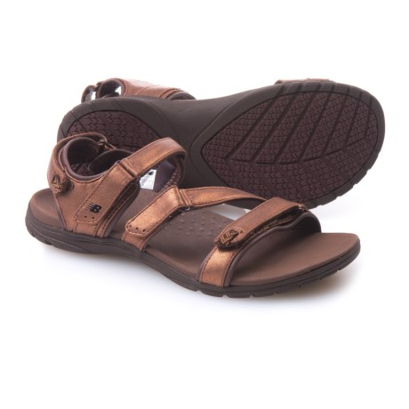 New Balance Maya Sport Sandals - Leather (For Women) in Bronze