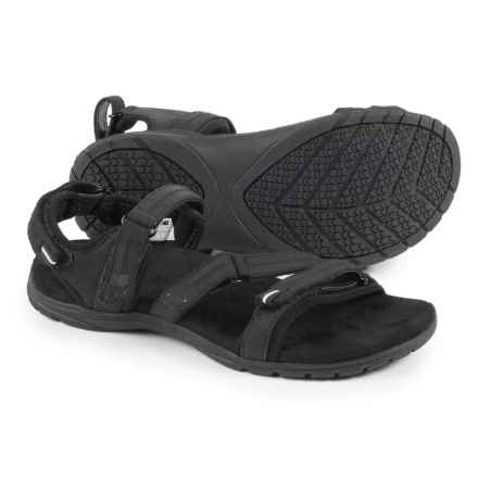 Maya Sport Sandals - Nubuck (For Women) in Bk Black - Closeouts