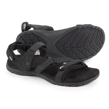 New Balance Maya Sport Sandals - Nubuck (For Women) in Bk Black