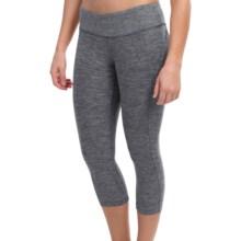 New Balance Melange Capris (For Women) in Black Grey - Closeouts