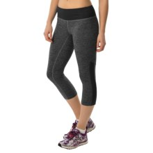 New Balance Melange Crush Capris (For Women) in Black Grey - Closeouts