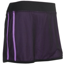 New Balance Mesh Skirt - Built-In Brief (For Women) in Dewberry - Closeouts