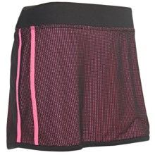 New Balance Mesh Skirt - Built-In Brief (For Women) in Pink Shock - Closeouts