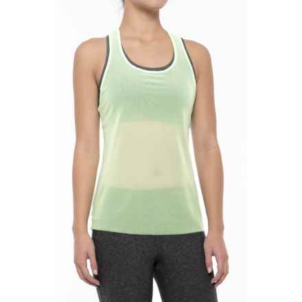 New Balance Mesh Tank Top - Semi Sheer, Racerback (For Women) in Agrave Green - Closeouts